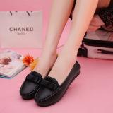 Dalam Wanita Sepatu Nyaman Dengan Sepatu Flat Kasual Bow Hitam Intl Tiongkok Diskon
