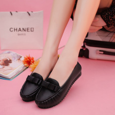 Tips Beli Dalam Wanita Sepatu Nyaman Dengan Sepatu Flat Kasual Bow Hitam Intl Yang Bagus