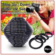 Beli Xcsource 20Pcs 26 30 37 43 52 55 62 67 72 77 82Mm Step Up Down Uv Filter Ring Set Lengkap
