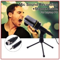Harga Xcsource 3 5Mm Microphone Condenser Sound Recording Stand Cable For Laptop Pc Skype Baru