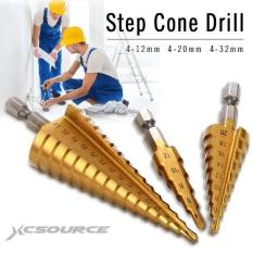 Spek Xcsource 3Pcs Large Hss Steel Step Cone Drill Titanium Bit Set Hole 4 12 20 32Mm Xcsource