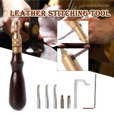 Review Terbaik Xcsource 5In1 Leather Craft Edge Stitching Groover Creaser Beveller Sewing Tool