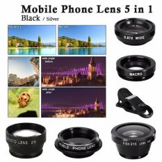 Xcsource 5in1 Smartphone Lens Set For Iphone - Hitam By Exindosource.