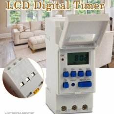 XCSource AC 220-240V Digital LCD Power Programmable DIN Timer Time Switch Relay 16A -Intl