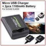 Ulasan Mengenai Xcsource Micro Usb Charger W 2Pcs 1100Mah 3 7V Replace Battery For Sj4000 Sj5000 Cam