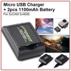 Katalog Xcsource Micro Usb Charger W 2Pcs 1100Mah 3 7V Replace Battery For Sj4000 Sj5000 Cam Xcsource Terbaru