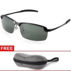 Jual Xcsource Uv400 Polarized Glasses Outdoor Sports Driving Sunglasses Green Black Frame Grosir