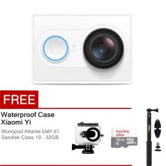 Beli Xiaomi Yi Action Camera 16 Mp Putih Waterproof Case Basic Package