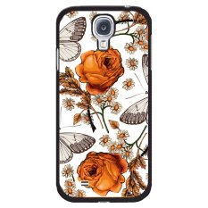Beli Y M Beautiful Floral And Butterfly Phone Case For Samsung Galaxy Mega 6 3 Black Murah
