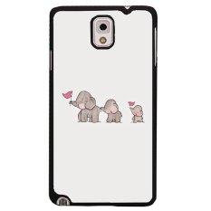 Beli Y M Lucu Tiga Gajah Dicetak Phone Case Untuk Samsung Galaxy Note 3 Multicolor Y M Asli