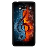 Harga Y M Fire And Water Music Note Cell Phone Case Cover For Xiaomi Redmi 2 Multicolor Y M Asli