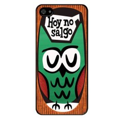 Harga Y M Green Owl Cartoon Painting Phone Case For Iphone 5 5S Multicolor Tiongkok