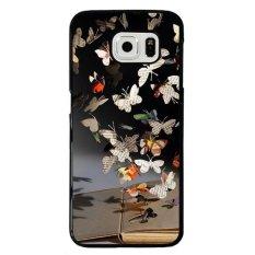 Y & M Gantung Koran Kupu-kupu Telepon Casse untuk Samusng Galaxy S6 Edge (Multicolor)