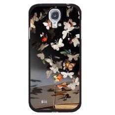 Y & M Gantung Koran Kupu-kupu Kerang Telepon untuk Samsung Galaxy Mega 6.3 (Multicolor)