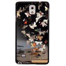 Y & M Gantung Koran Kupu-kupu Kerang Telepon untuk Samsung Galaxy Note 4 (Multicolor)