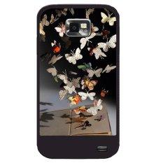 Y & M Gantung Koran Kupu-kupu Kerang Telepon untuk Samsung Galaxy S4 Mini (Multicolor)