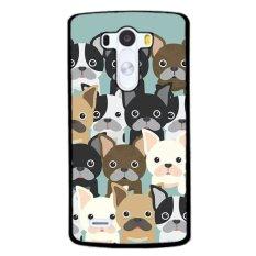 Katalog Y M Many Pug Dog Mobile Phone Case Cover For Lg G4 Black Terbaru