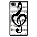 Y M Catatan Musik Cover Telepon Untuk Blackberry Z10 Hitam Original