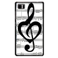 Diskon Y M Catatan Musik Cover Telepon Untuk Blackberry Z10 Hitam Y M Tiongkok