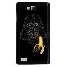Jual Y M Orangutan Makan Pisang Pola Case Untuk Huawei Honor 3C Multicolor Y M Asli