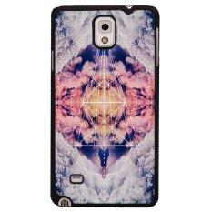 Y&M  Triangle Sky Case for Samsung Galaxy Note 4 (Multicolor)
