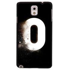 Y & M White Zero Nomor Phone Case untuk Samsung Galaxy Note 3 (Multicolor)
