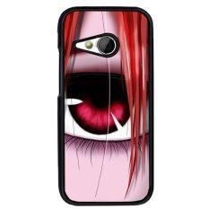 Y & M Cell Phone Case untuk HTC One M8 Komik Mini Girl Eye Pola (Multicolor)