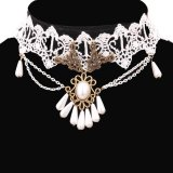 Spesifikasi Yazilind Women Retro White Adjustable Necklace Merk Yazilind