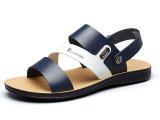 Review Yearcon Pria Sandal Musim Panas Pantai Sandal Musim Panas Sepatu Biru Intl