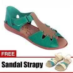 Spesifikasi Yutaka Casual Flat Shoes Hijau Gratis Sandal Triple Terbaru