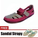 Beli Yutaka Casual Flat Shoes Pink Gratis Yutaka Sandal Strapy Krem
