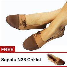 Jual Yutaka Sepatu Wanita N33 Cokelat Gratis N33 Cokelat Yutaka Asli