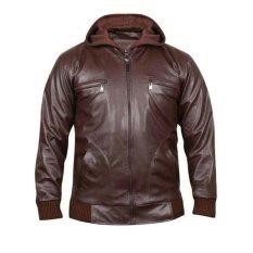 Harga Zeintin Jaket Pria Bahan Semi Kulit Fj 4255 Coklat Satu Set