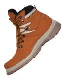 Zimzam Sepatu Jogger Leather Buk Tan Terbaru