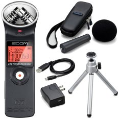 Zoom Handy Voice Recorder H1 + Accessories Pack - Hitam