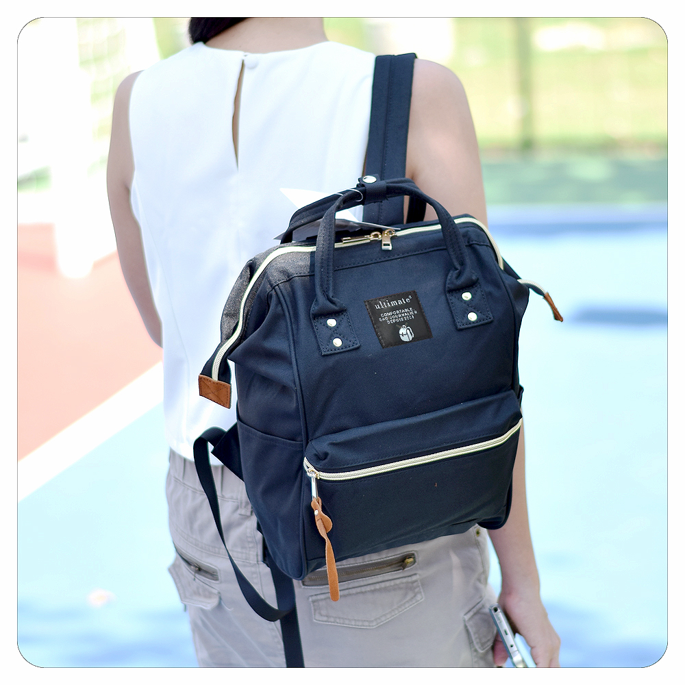 Ultimate Tas Ransel Wanita Fs 90546 Black 2in1 Cewek Darla Backpack Medium Jinjing Tenteng Import Bagian Punggung Terdapat Retsleting Khusus Yang Langsung Terhubung Ke Dalam