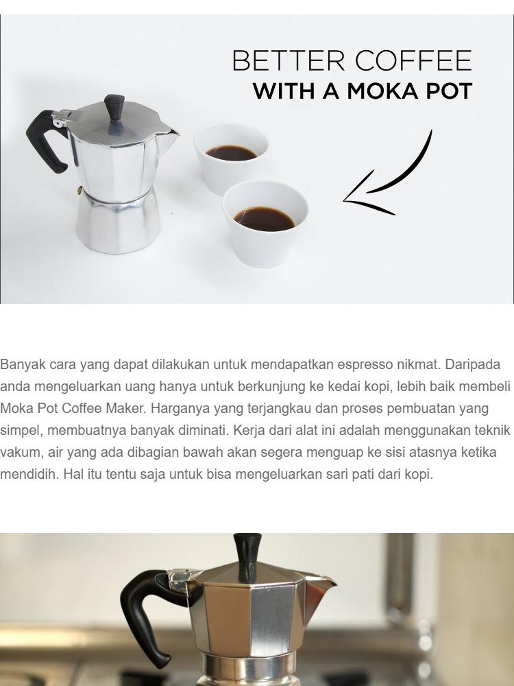 Harga Mokapot Aluminium Moka Pot Original 9 Cup Coffee Maker Harga Rp 149.900