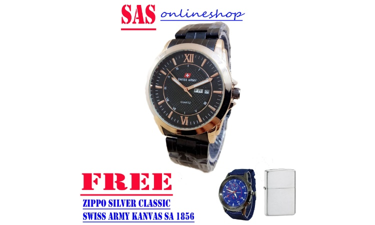 LIMITED EDITION SWISS ARMY ORIGINAL - jam tangan pria swiss army fashion SA 6654 - TANGGAL