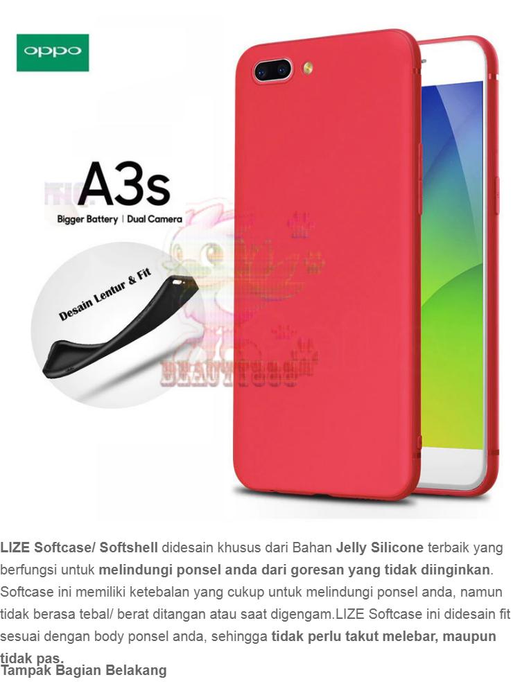 Lize Case For Oppo A3S Rubber Silicone Anti Glare Skin Back Case / Silikon Oppo A3S