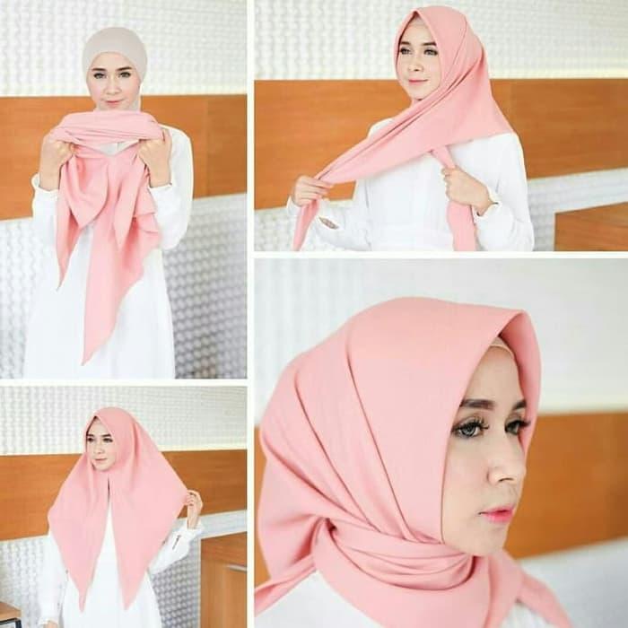 Tutorial Hijab Syari Segi Empat Jumbo Jilbab Gucci