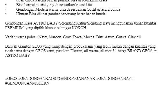 """ASTRO BABY - GEOS SAKU - Gendongan Bayi Kaos Gendongan Anak Gendongan Baby - PEACH UKURAN M Kualitas PREMIUM – """"Langsung Pabrik Reseller Welcome"""" HARGA ..."""
