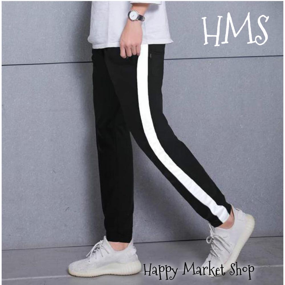 Celana Luna Hitam Garis Putih Polos Luna Long Pants Cwe Cwo Bagus Mantap Fashion Keren Murah Happy Market Shop Lazada Indonesia