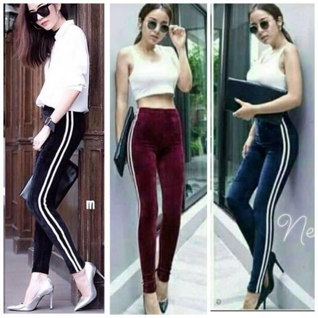 Celana Legging Bludru Velvet Import List Lazada Indonesia