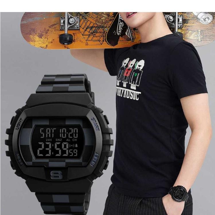SKMEI Dual Time Men Sport LED Watch Anti Air Water Resistant WR 50m AD1117 Jam Tangan. Source · Order via Lazada