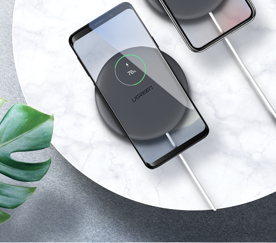 UGREEN Wireless Charger 10W 7 5W Qi Wireless Charging for xiaomi mi 9 MIX  2S MIX3 iPhone X XS 8 XR Samsung S10 S9 S8 Note 9 Huawei mate20 pro P30 pro