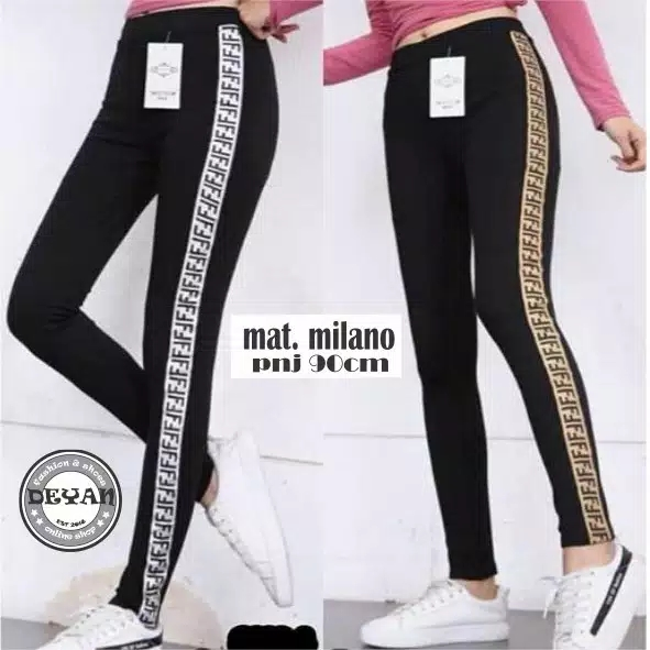 Kanaya Trend Legging List Milano Pants Premium Celana Legging Wanita Termurah Lazada Indonesia