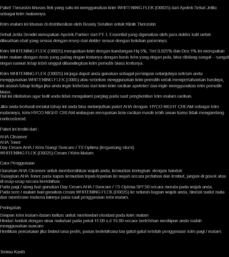 Theraskin Flek AHA / Flek Ringan dengan Whitening Flek (D0025) Sehat Jelita Semua Jenis Kulit + Gratis Serum Vit C + Collagen Hauraskin