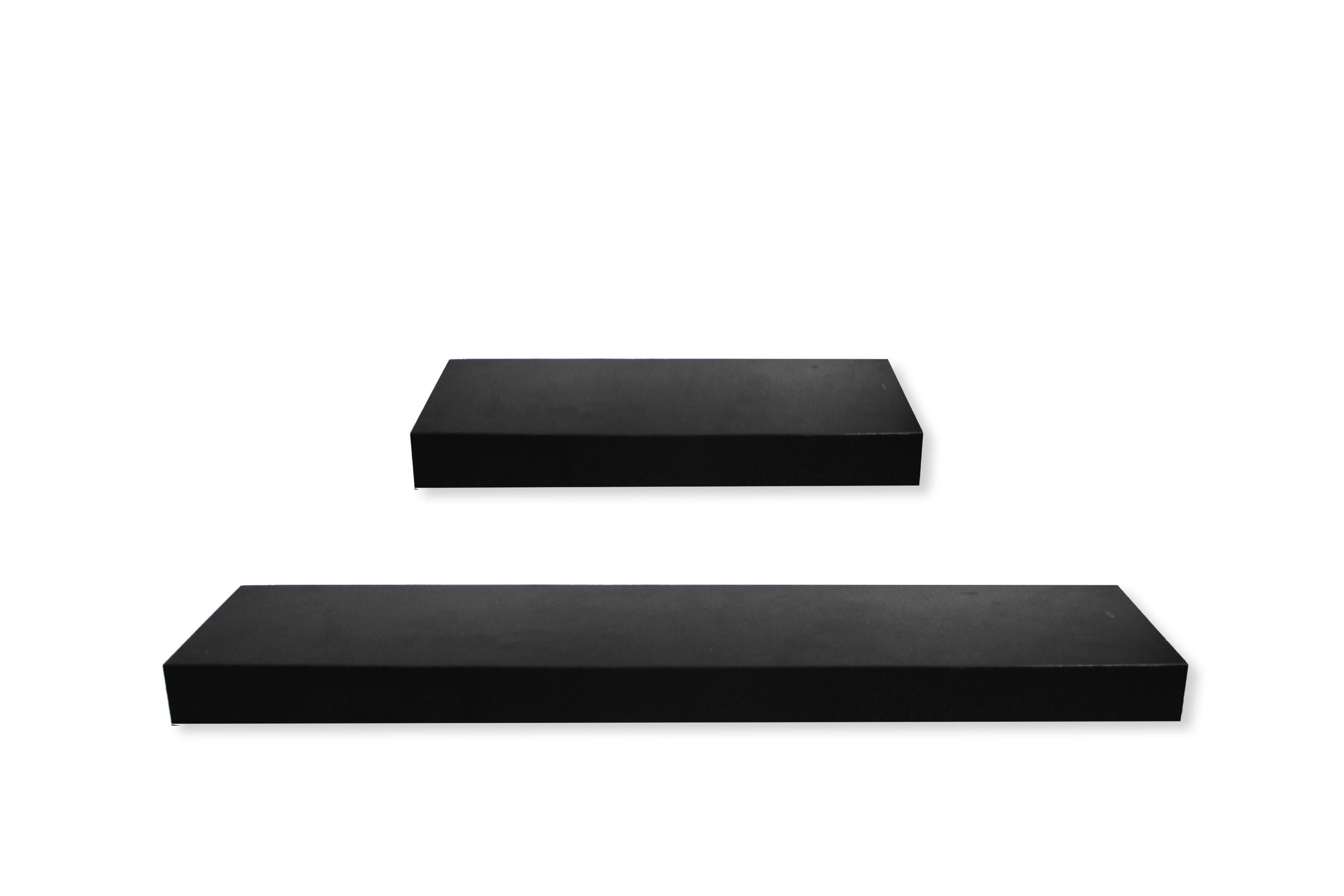 decorunic floating shelf rak dinding minimalis 2 pcs ukuran 30 60 cm i