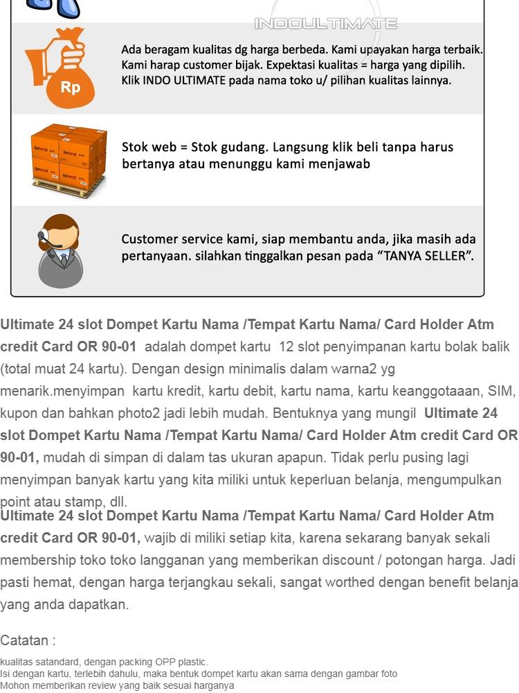 Ultimate 24 slot Dompet Kartu Nama   kartu kredit   Tempat Kartu Nama Kulit    Atm OR 90-01 - BROWN  28cf0a4eba