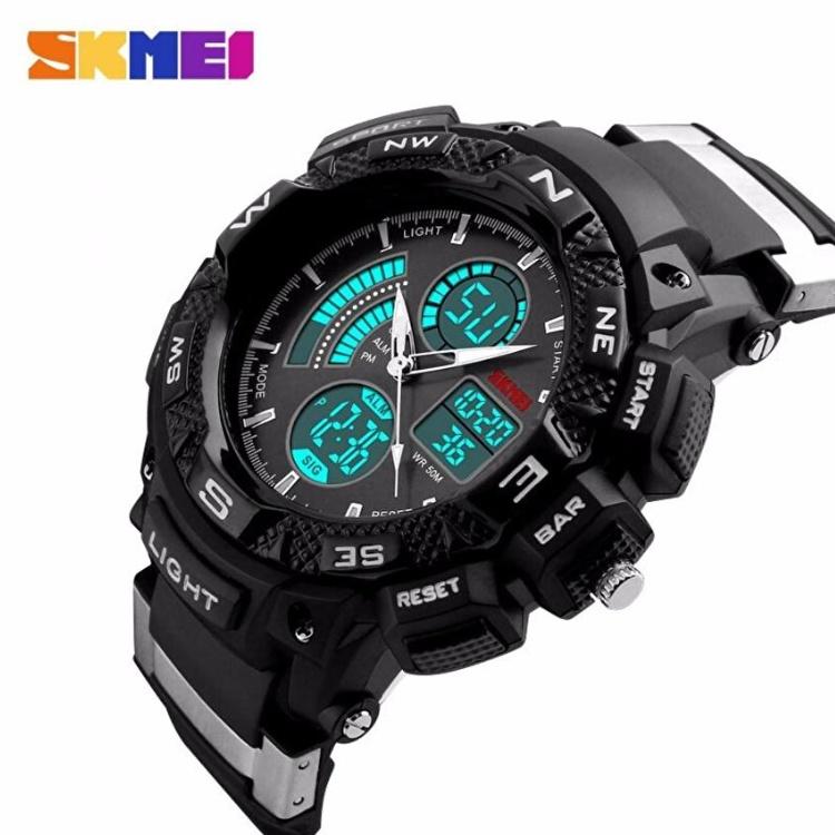 50m AD1117 Jam Tangan Pria Tali Strap Karet Digital Alarm Wristwatch Wrist Watch . Source · Order via Lazada